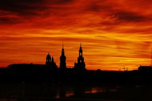 Sunset, Dresden II by dayrdre