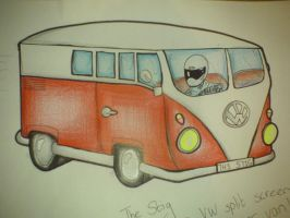 Stig in a VW Splitty by Chloemew4ever