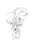 Bound For Life - Shadow x Tikal (Lineart) by Cylent-Nite