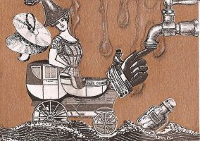 ATC Steampunk Water Fairy by claudiamm37