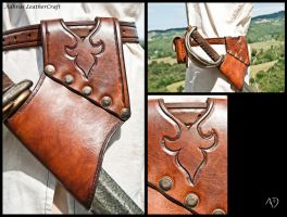 Larp Sword Holster Reddish Brown Version by Adhras