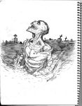 Zombie Return pencil sketch by mdavidct
