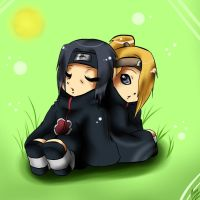GF:Itachi and Deidara by xXUnicornXx