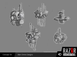 Alien Drone (Initial Concepts) by HozZAaH