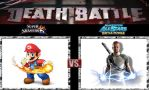 Death Battle Mario vs Cole by Werewolf-Hero