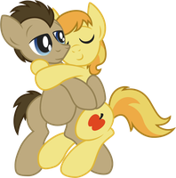 Braeburn and Dr Whooves by Jakage