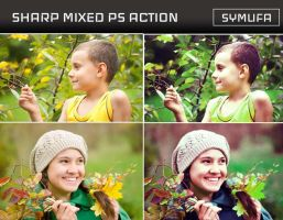 SHARP MIXED PHOTOSHOP ACTION 0025 by symufa