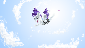 Rarity Goes Skydiving by Poniker