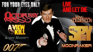 Roger Moore - 007 wp by SWFan1977