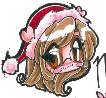 chibi christmas cookie by cari