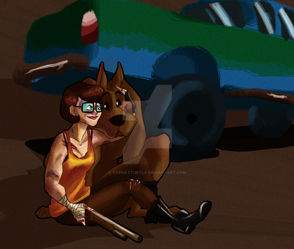 Apocalypse Velma and Scooby by TopHatTurtle