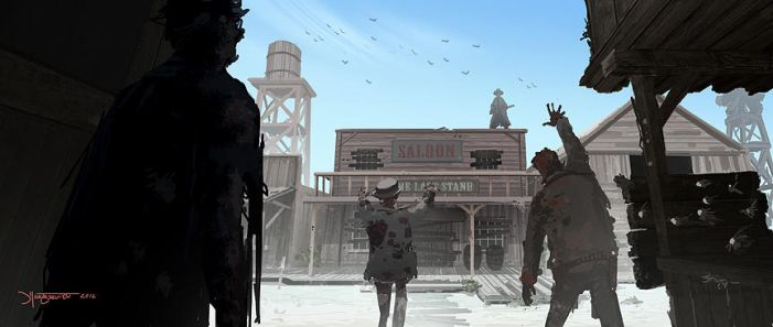 Zombie Cowboy town by RC-draws