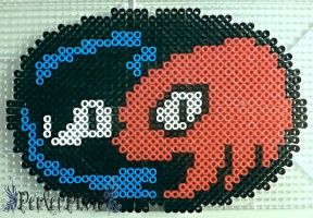Sonic and Knuckles Logo by PerlerPixie