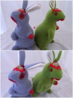Zombie Bunnies by IckyDog