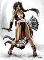 MAI SHIRANUI speed-paint by mansarali