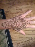 Henna Tattoo Hand by KristeeMaysCreative
