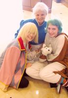 Wizard Howl, Sophie Hatter and Ashes by joshietakashima