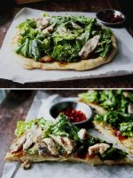 Grilled Chicken Caesar Salad Pizza by sasQuat-ch
