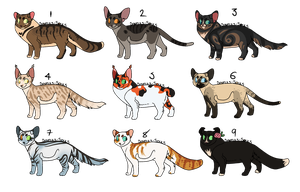 Cat Adopts 10 [CLOSED] by RibbonWren-Adopts