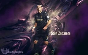 Pablo Zabaleta Wallpaper by ManCityGraphics