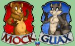 Badges Mock and Guax by Onzeno