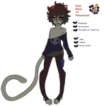 Kain ref sheet by lycheeion