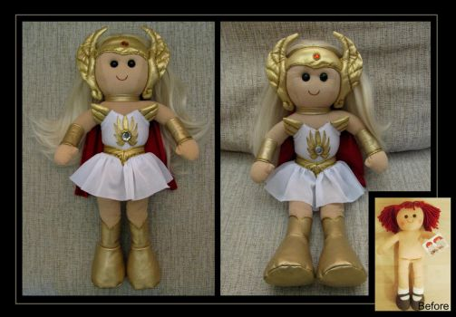 she-ra rag doll by nightwing1975
