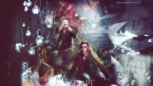 Legolas and Tauriel by HappinessIsMusic