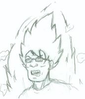 Quick Sketch- SSJ Hank Hill by MrPants3000