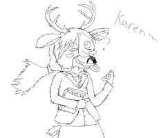 Karen the Crazy Deer lady by CrazytheLion