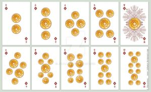 playing card number - diamonds by JuliaMyr