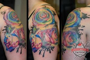 Ruslan Colour Roses by HammersmithTattoo