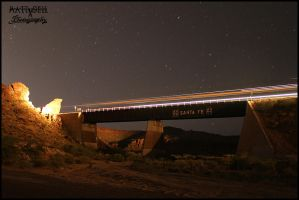 Kingman Canyon night by DragonWolfACe