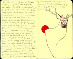 Deer Dream - journal17 by LadyOrlandoArt
