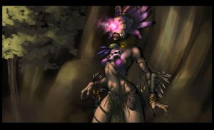 Female Witch doctor by feral714