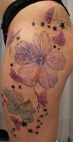 Butterflies Flowers in prog. by 2Face-Tattoo