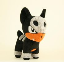 Chibi Houndour Plush by Yukamina-Plushies