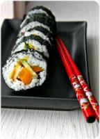 Cucumber and Carrot Sushi by Gingerspine