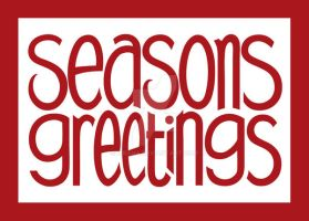 Seasons Greetings Red by mrana