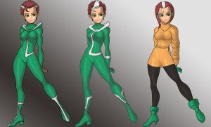 preview, Rogue's X-Men Uniform by skyboy16
