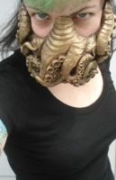 Brass Cthulhu mask by missmonster