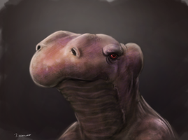 speed painting creature face by thesadpencil