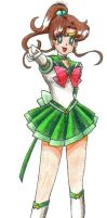 Eternal Sailor Jupiter colored by ykansaki
