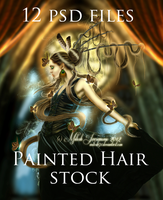 Hair Stock Painted by MiloshJevremovic