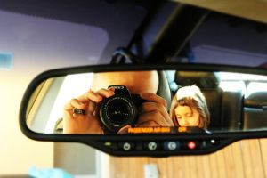 Rearview mirror Self Portrait by 7whitefire7