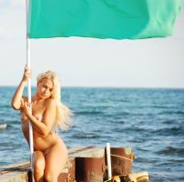 Iryna with the flag by enonorez