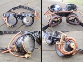 Steampunk Goggles #2 by LeatherCraft