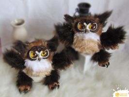 Celtic Owls by LimitlessEndeavours