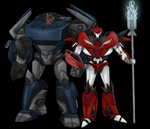 TFP- Blue and Red Duo by chibigingi