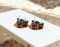 Mickey and  Minnie Candy Apples by TheMicroBakery